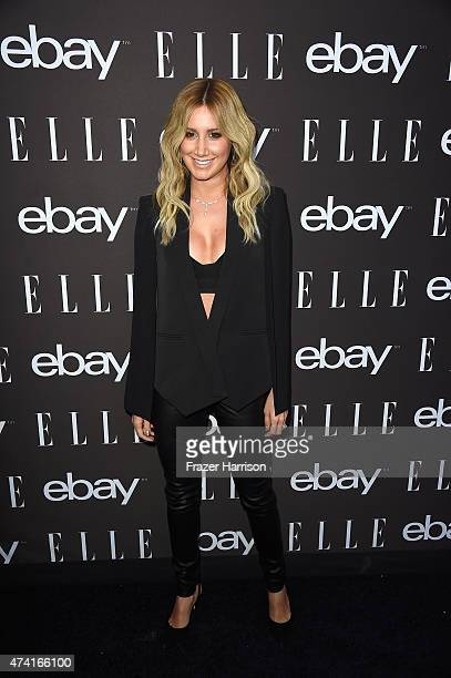 Actress Ashley Tisdale arrives at the 6th Annual ELLE Women In Music Celebration Presented By eBayat Boulevard3 on May 20 2015 in Hollywood California
