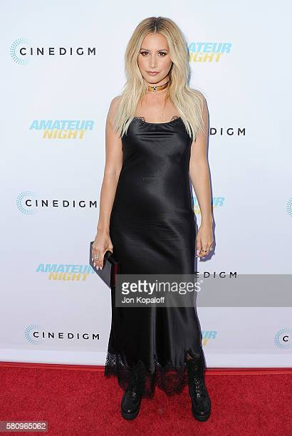 Actress Ashley Tisdale arrives at the Los Angeles Premiere of 'Amateur Night' at ArcLight Hollywood on July 25 2016 in Hollywood California