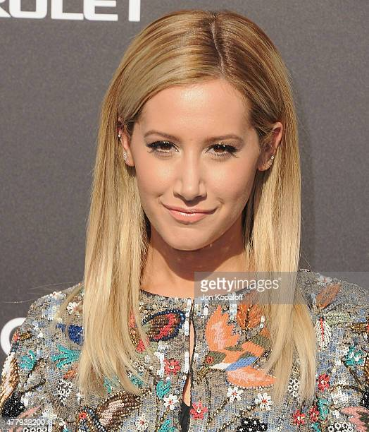Actress Ashley Tisdale arrives at the Los Angeles Premiere of Disney's Tomorrowland at AMC Downtown Disney on May 9 2015 in Lake Buena Vista Florida