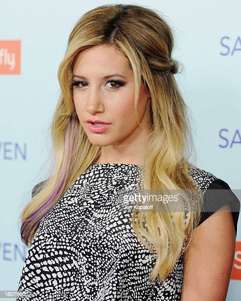 Actress Ashley Tisdale arrives at the Los Angeles Premiere 'Safe Haven' at TCL Chinese Theatre on February 5 2013 in Hollywood California