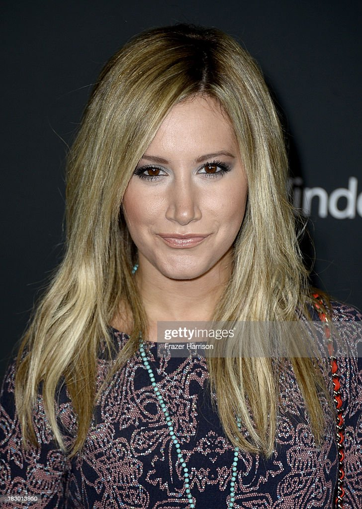 Actress Ashley Tisdale arrives at the premiere of AMC's 'The Walking Dead' 4th season at Universal CityWalk on October 3, 2013 in Universal City, California.