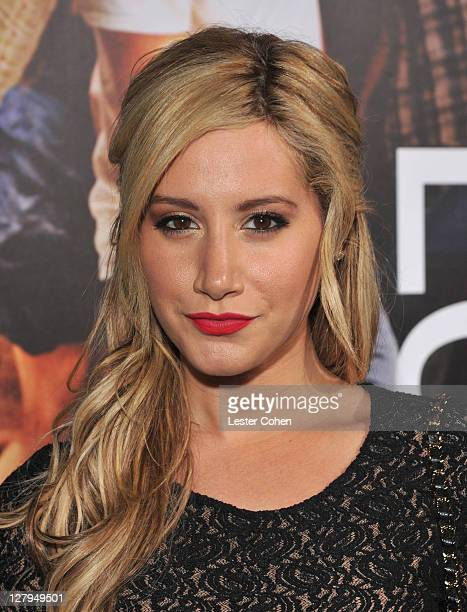Actress Ashley Tisdale arrives at the premiere of Footloose held at the Regency Village Theatre on October 3 2011 in Westwood California