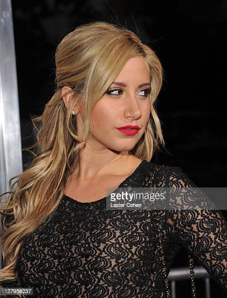 Actress Ashley Tisdale arrives at the premiere of Footloose held at Regency Village Theatre on October 3 2011 in Westwood California