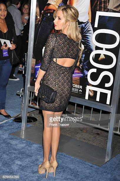 Actress Ashley Tisdale arrives at the premiere of Footloose held at the Regency Village Theater in Westwood