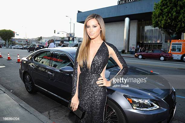 Actress Ashley Tisdale arrives at the premiere of 'Scary Movie V' presented by Dimension Films in partnership with Lexus and Chambord at the Cinerama...