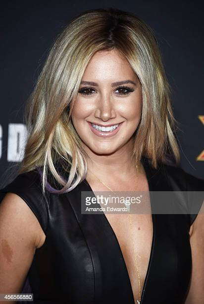 Actress Ashley Tisdale arrives at the Season 5 premiere of AMC's The Walking Dead at AMC Universal City Walk on October 2 2014 in Universal City...
