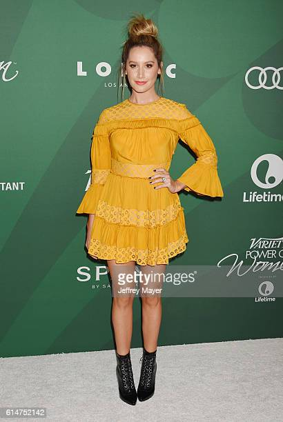 Actress Ashley Tisdale arrives at the Variety's Power Of Women Luncheon 2016 at the Beverly Wilshire Four Seasons Hotel on October 14 2016 in Beverly...