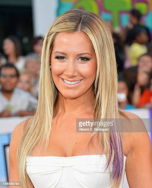 Actress Ashley Tisdale arrives to the Los Angeles premiere of Summit Entertainment's 'Step Up Revolution' at Grauman's Chinese Theatre on July 17...