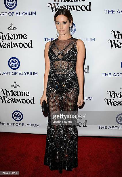 Actress Ashley Tisdale attends Art of Elysium's 9th annual Heaven Gala at 3LABS on January 9 2016 in Culver City California