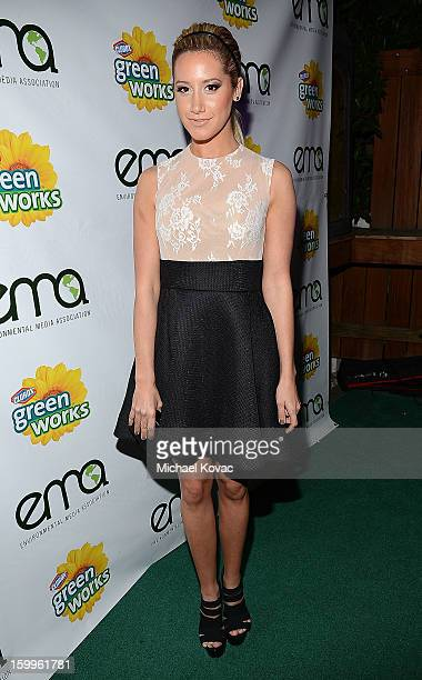 Actress Ashley Tisdale attends Celebrities and the EMA Help Green Works Launch New Campaign at Sur Restaurant on January 23 2013 in Los Angeles...