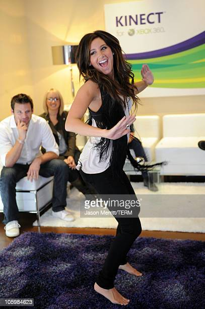 Actress Ashley Tisdale attends Kinect for Xbox 360 Launch Party held at a private residence on October 23 2010 in Beverly Hills California