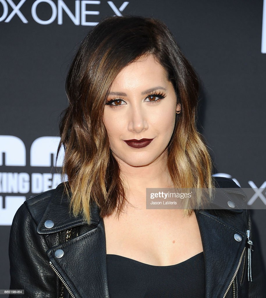 Actress Ashley Tisdale attends the 100th episode celebration off 'The Walking Dead' at The Greek Theatre on October 22, 2017 in Los Angeles, California.