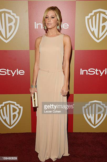 Actress Ashley Tisdale attends the 2013 InStyle and Warner Bros 70th Annual Golden Globe Awards PostParty held at the Oasis Courtyard in The Beverly...
