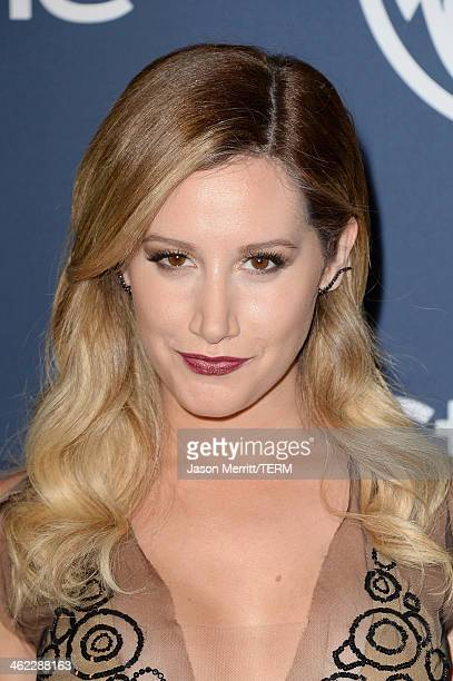Actress Ashley Tisdale attends the 2014 InStyle and Warner Bros 71st Annual Golden Globe Awards PostParty on January 12 2014 in Beverly Hills...