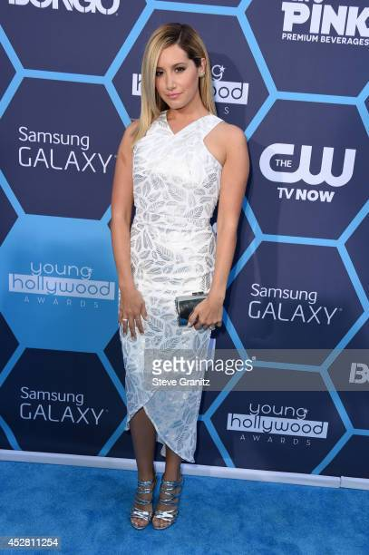 Actress Ashley Tisdale attends the 2014 Young Hollywood Awards held at The Wiltern on July 27 2014 in Los Angeles California
