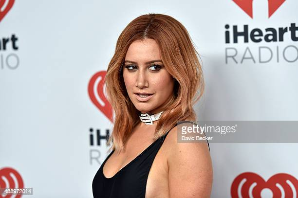 Actress Ashley Tisdale attends the 2015 iHeartRadio Music Festival at MGM Grand Garden Arena on September 18 2015 in Las Vegas Nevada