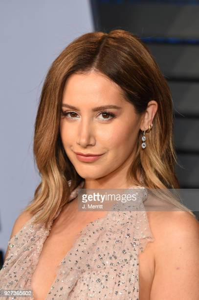 Actress Ashley Tisdale attends the 2018 Vanity Fair Oscar Party hosted by Radhika Jones at the Wallis Annenberg Center for the Performing Arts on...