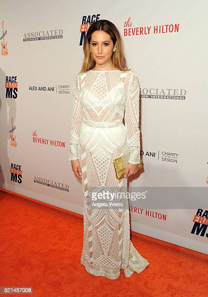 Actress Ashley Tisdale attends the 23rd Annual Race To Erase MS Gala at The Beverly Hilton Hotel on April 15 2016 in Beverly Hills California