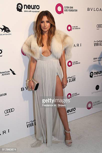 Actress Ashley Tisdale attends the 24th Annual Elton John AIDS Foundation's Oscar Viewing Party on February 28 2016 in West Hollywood California