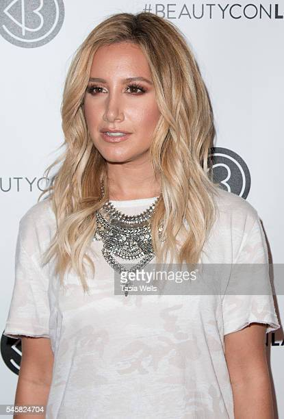 Actress Ashley Tisdale attends the 4th Annual Beautycon Festival Los Angeles at the Los Angeles Convention Center on July 9 2016 in Los Angeles...