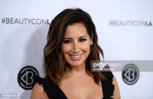 Actress Ashley Tisdale attends the 5th Annual Beautycon Festival Los Angeles at the Los Angeles Convention Center on August 12 2017 in Los Angeles...
