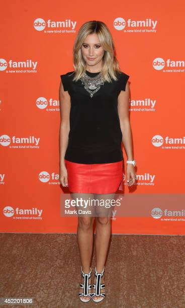 Actress Ashley Tisdale attends the Disney ABC Television Group's TCA Summer Press Tour on July 15 2014 in Beverly Hills California