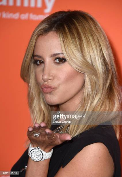 Actress Ashley Tisdale attends the Disney/ABC Television Group 2014 Television Critics Association Summer Press Tour at The Beverly Hilton Hotel on...