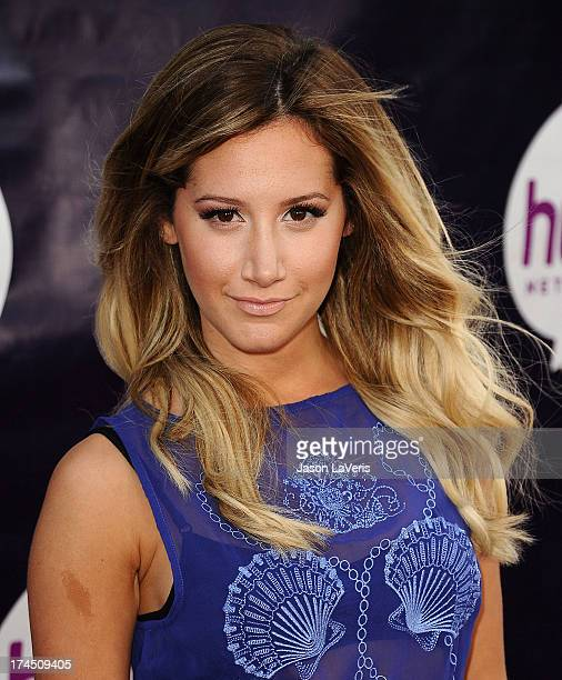 Actress Ashley Tisdale attends the Hub Network's 2013 Television Critics Association summer press tour event at The Globe Theatre at Universal...