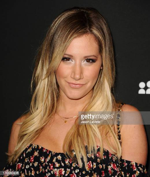 Actress Ashley Tisdale attends the Myspace artist showcase event at El Rey Theatre on June 12 2013 in Los Angeles California