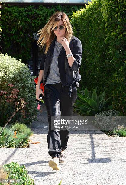 Actress Ashley Tisdale is seen on February 11 2014 in Los Angeles California