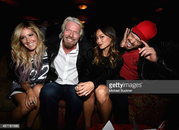 Actress Ashley Tisdale Richard Branson Founder Virgin Group actress Jamie Chung and actor Kellan Lutz attend the Virgin America Dallas Love Field...