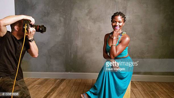 Actress Ashley Wilkerson is seen behind the scenes in the Getty Images SXSW Portrait Studio powered by Samsung on March 12, 2016 in Austin, Texas....
