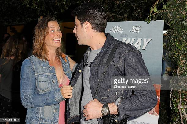 Actress Ashley Williams and actor / director / writer Adam Goldberg arrive at the 'No Way Jose' screening on July 7 2015 in Los Angeles California