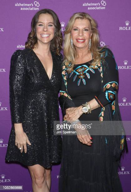 Actress Ashley Williams and Princess Yasmin Aga Khan attend the 35th Annual Alzheimer's Association Rita Hayworth Gala at Cipriani 42nd Street on...