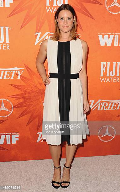 Actress Ashley Williams arrives at the Variety And Women In Film Annual Pre-Emmy Celebration at Gracias Madre on September 18, 2015 in West...