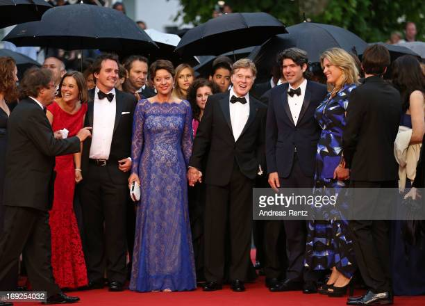 Actress Ashley Williams producer Neal Dodson Sibylle Szaggars actor Robert Redford director JC Chandor and his wife Mary Cameron Goodyear attend the...