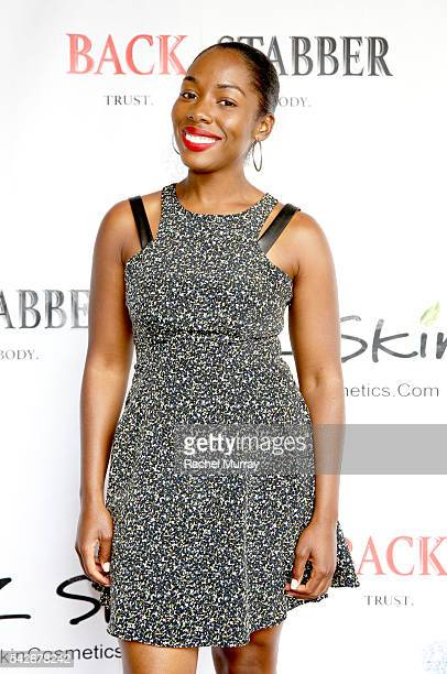 Actress Ashlyn McCormick attends the red carpet premiere for the new Amazon series 'Back Stabber' at the Ambrose Boutique Hotel on June 23 2016 in...