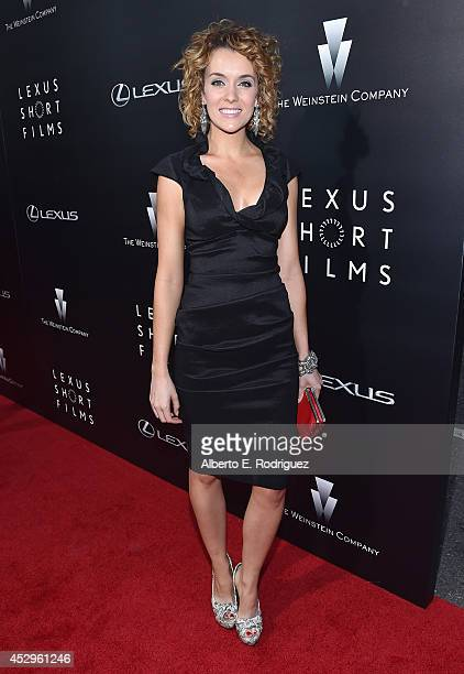 Actress Ashlynn Yennie arrives to The Weinstein Company and Lexus Present Lexus Short Films at The Regal Cinemas LA Live on July 30 2014 in Los...