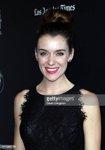 Actress Ashlynn Yennie attends the 2015 Los Angeles Film Festival screening of Flock of Dudes at Regal Cinemas LA Live on June 13 2015 in Los Angeles...