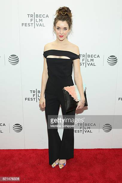 Actress Ashlynn Yennie attends the Fear Inc Premiere during the 2016 Tribeca Film Festival at Regal Battery Park Cinemas on April 15 2016 in New York...