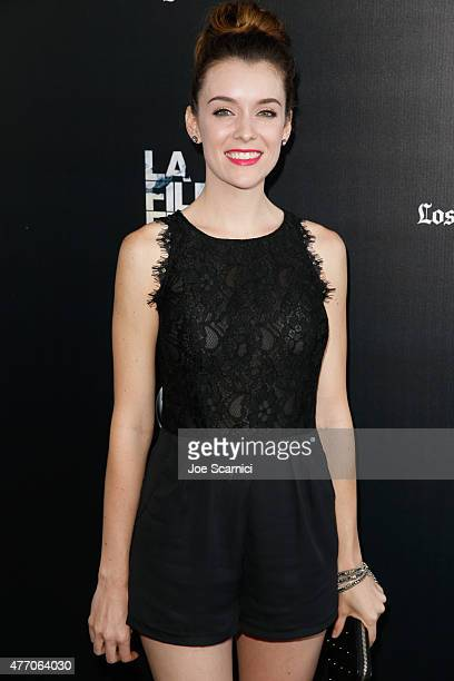 Actress Ashlynn Yennie attends the Flock of Dudes screening during the 2015 Los Angeles Film Festival at Regal Cinemas LA Live on June 13 2015 in Los...
