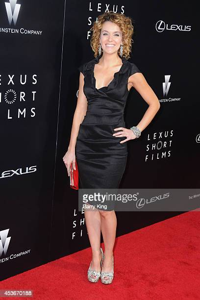 Actress Ashlynn Yennie attends the Weinstein Comopany short films presented by Lexus at Regal Cinemas LA Live on July 30 2014 in Los Angeles...
