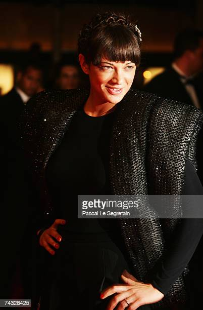 Actress Asia Argento arrives at the premiere for the film 'Une Vieille Maitresse' at the Palais des Festivals during the 60th International Cannes...