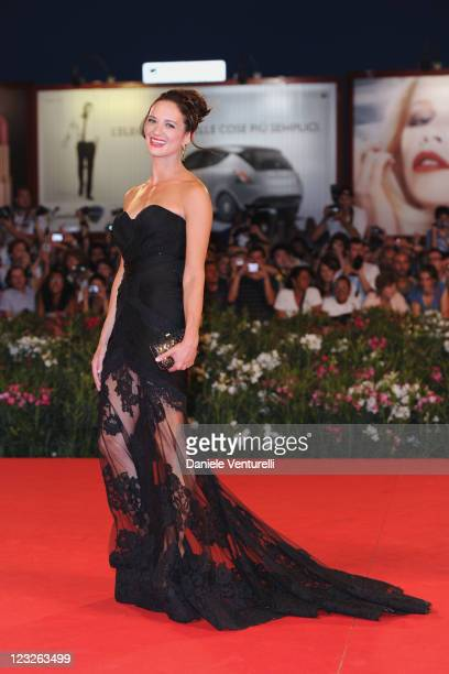 """Actress Asia Argento attends the """"Carnage"""" premiere during the 68th Venice International Film Festival at Palazzo del Cinema on September 1, 2011 in..."""