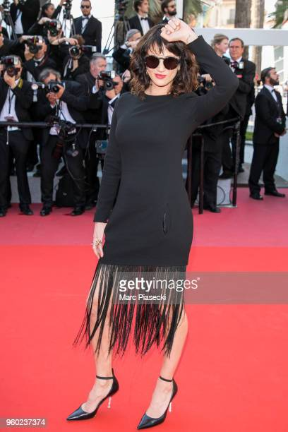 Actress Asia Argento attends the Closing Ceremony screening of The Man Who Killed Don Quixote during the 71st annual Cannes Film Festival at Palais...