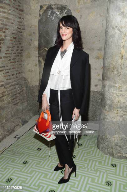 Actress Asia Argento attends the Lanvin show as part of the Paris Fashion Week Womenswear Fall/Winter 2019/2020 on February 27 2019 in Paris France