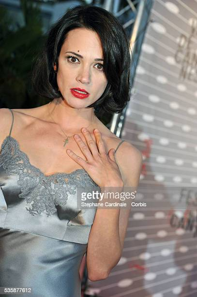 Actress Asia Argento attends the 'Palme D'Or Winners dinner' during the 66th Cannes International Film Festival
