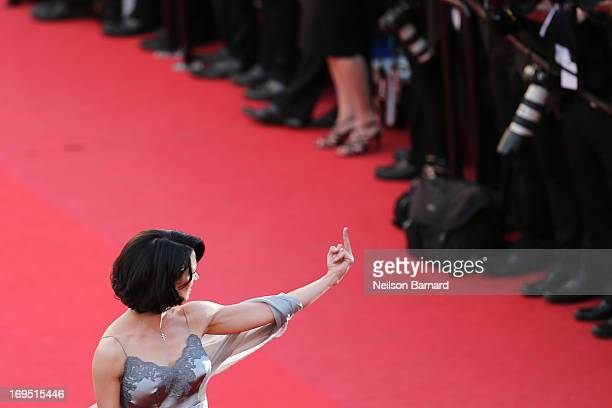 Actress Asia Argento attends the 'Zulu' Premiere and Closing Ceremony during the 66th Annual Cannes Film Festival at the Palais des Festivals on May...