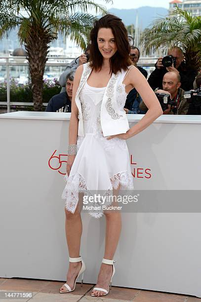 Actress Asia Argento poses at the 'Dario Argento's Dracula 3D' photocall during the 65th Annual Cannes Film Festival at Palais des Festivals on May...