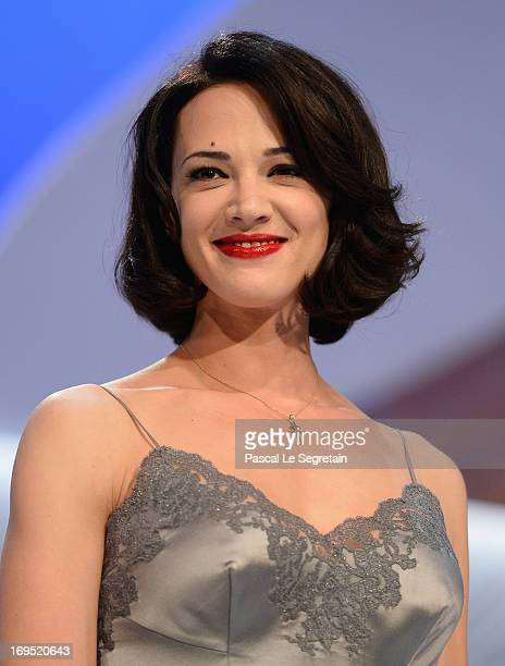 Actress Asia Argento speaks on stage at the 'Zulu' Premiere and Inside Closing Ceremony during the 66th Annual Cannes Film Festival at the Palais des...